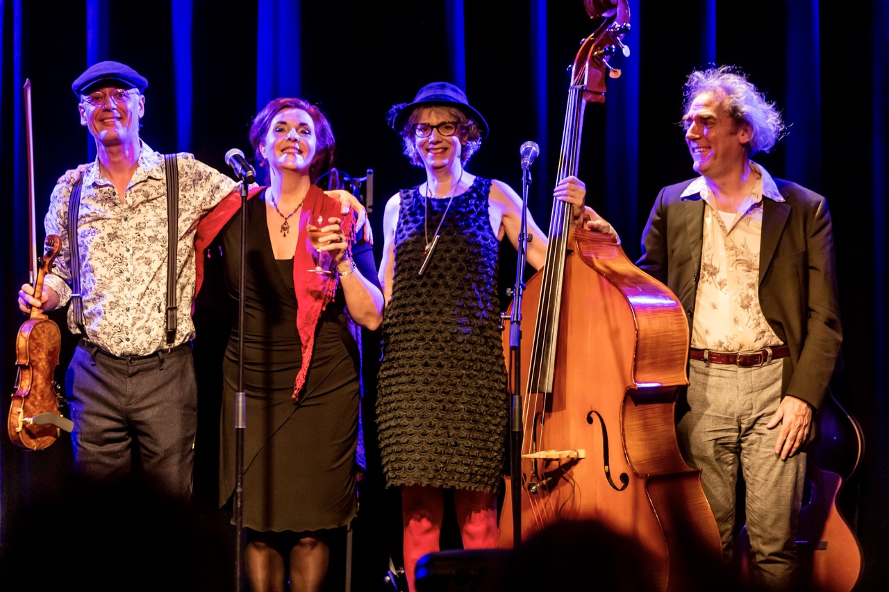 Netherlands, Heerlen, 13.01.2019 Show Ravelin in Cultuurhuis Heerlen. André, Anita, Josien and Peter. photo Chris Keulen